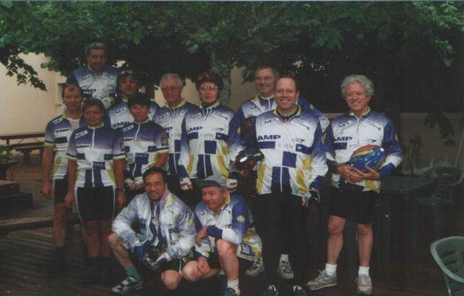 Rando Cyclo Bull 1999 - La section parisienne à Mauriac