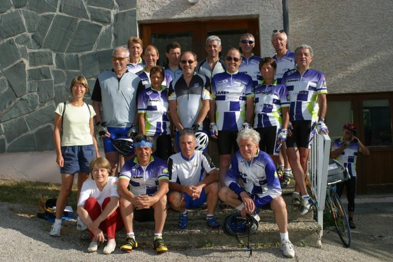 Rando Cyclo Bull 2003 - L'équipe parisienne à Jougne