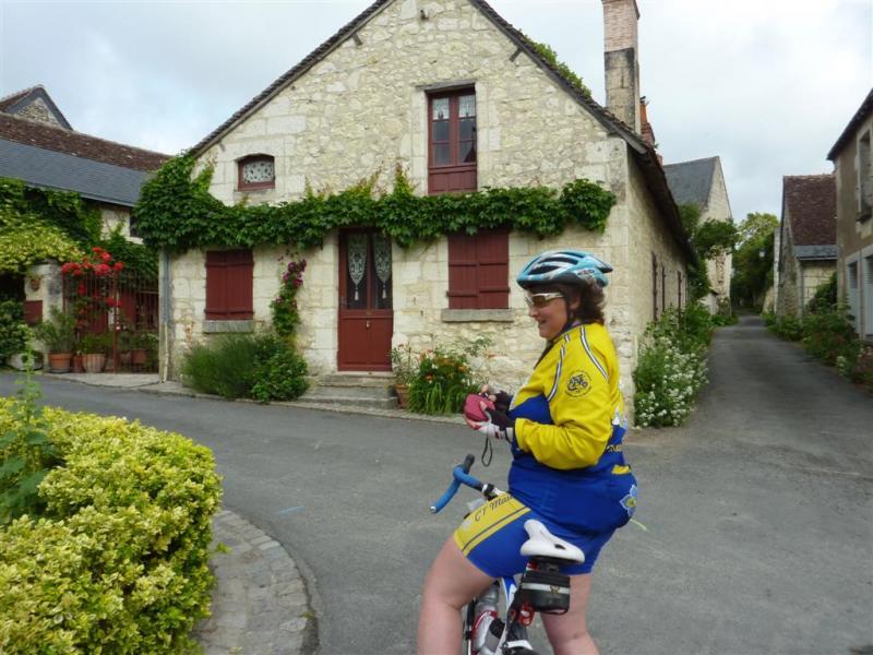 Rando cyclo Bull 2012 - Corinne pendant l'itinérant