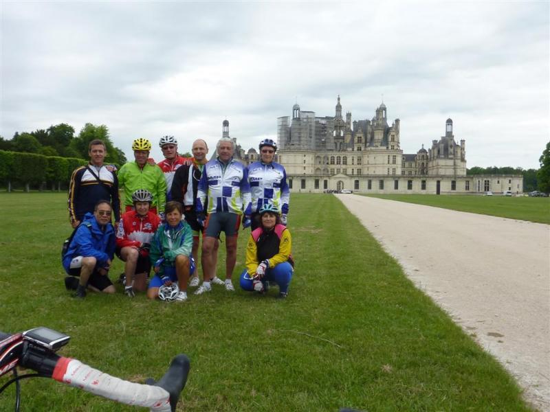Rando Cyclo Bull 2012 - Le groupe itinérant à Chambord